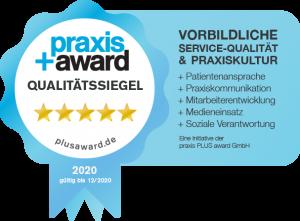 Praxisplus Award Siegel 2020